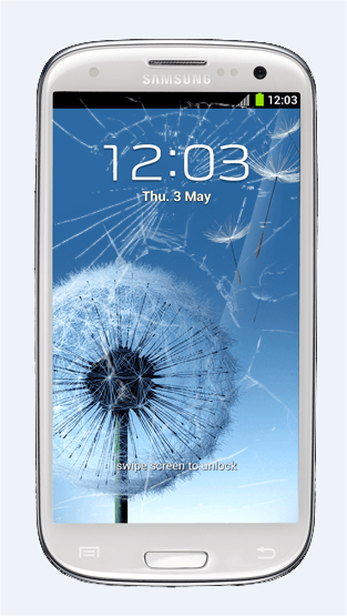 Galaxy S 3 cracked